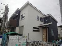 中津の家、外装が完成