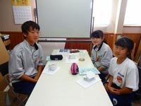 江井島中学がトライやるウィークで3人受け入れ