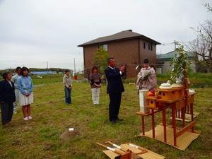 地産地消の「野谷の家」、地鎮祭と着工式!