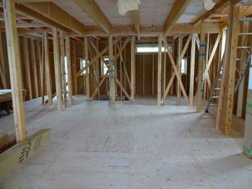 野谷の家、先週に引き続き構造見学会をしました