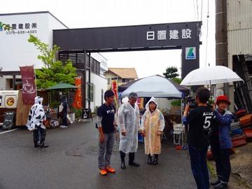 第11回ひおきクラフトまるしぇ、雨も上がり開催!