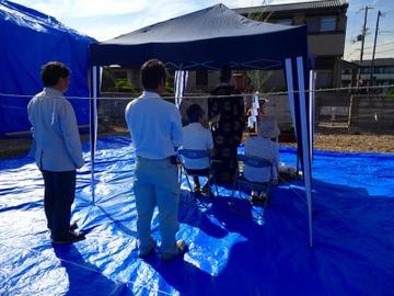 西野添Ⅲの家、地鎮祭と着工式