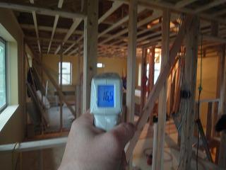 西島Ⅲの家、今朝の温度測定
