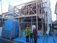 「北野Ⅱの家」昨日、上棟