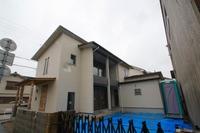 米田の家、外装が完成し、内部も完了