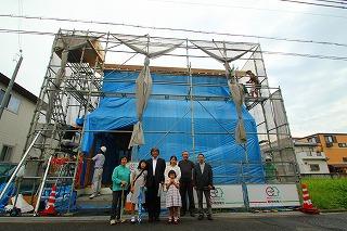 「HKハウス住吉Ⅱの家」なんとか上棟
