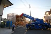 北本荘の家、新築工事が上棟!