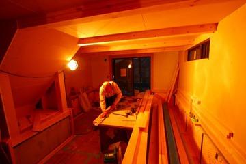 BinO松陰の家、大工工事が大詰め