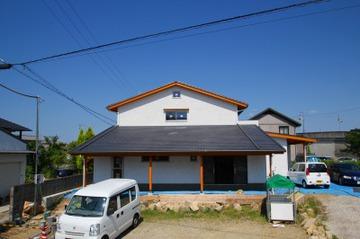 平荘の家、外装が完成しました!