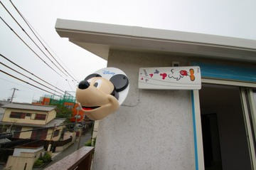 歌敷山の家 見学会でミッキーを確認ください