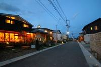 里山住宅博の夜の街並みもいいですよ!