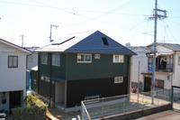 東須磨の家、外部足場がはずれ、最終段階です。
