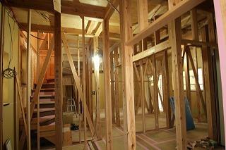 デザイン設計北野Ⅱの家、構造見学会