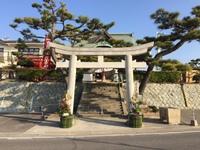 西江井住吉神社へ幕の奉納