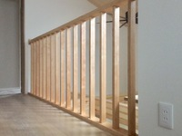 2F廊下吹抜け木製格子