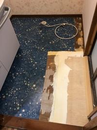 洗面所の床の貼り替え