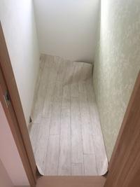 新築トイレの床