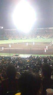 2-0です。阪神甲子園球場から速報