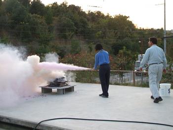 消火訓練!