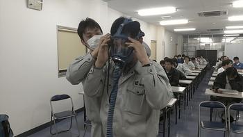 酸欠測定器、エアラインマスクの使用方法研修