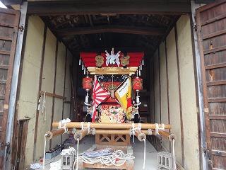 江井ヶ島秋祭りに息子2人