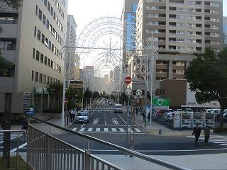 神戸ルミナリエの準備中