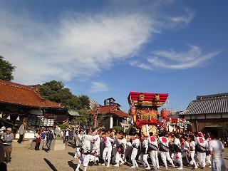江井ヶ島秋祭りに泉市長
