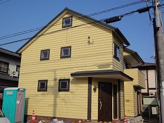 藤江の家、鎧張りの外壁