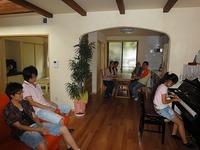 藤江の家、家族参加で撮影