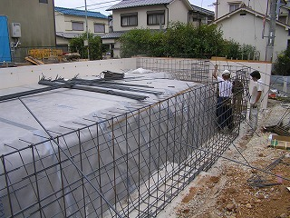 基礎の配筋検査「太寺Ⅱの家」