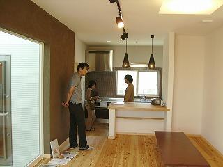 長期優良住宅「林崎の家」見学会の様子