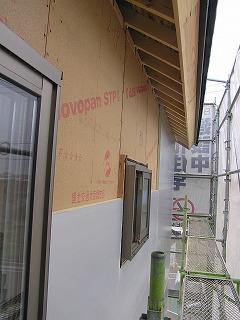 「西脇の家」外張り断熱工事中