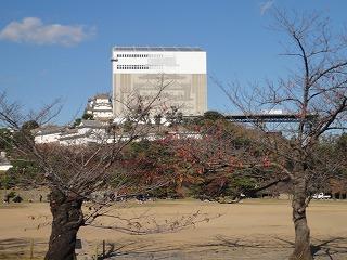 姫路城に「幻の窓枠」