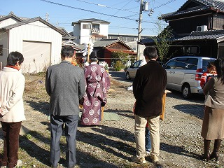 播磨の家、地鎮祭