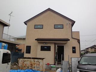 西野添の家、外装完成