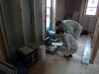 大窪Ⅱの家、気密測定の結果