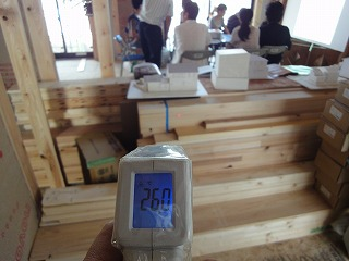 姫路豊富の家で温度の測定