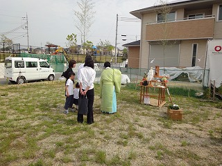 舞多聞西の家、地鎮祭