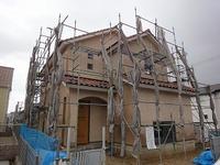 舞多聞西の家、外壁完成