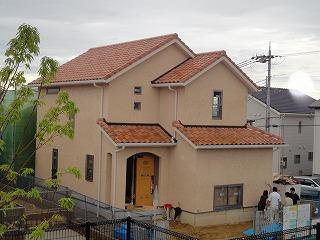 舞多聞西の家、外部足場を撤去