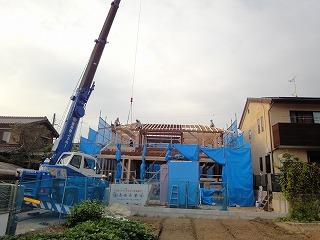 新在家Ⅱの家、上棟