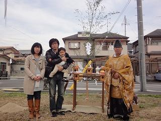 稲美Ⅱの家、地鎮祭