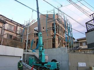 「舞子坂の家」上棟しました。