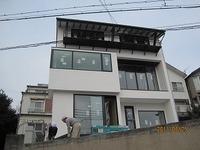 舞子坂の家、外装完成