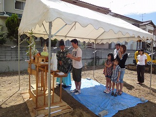 江井島Ⅱの家、地鎮祭