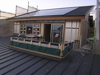 「松江Ⅱの家」屋根一体型太陽光発電