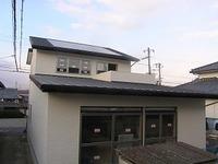 松江Ⅱの家、外装が完成