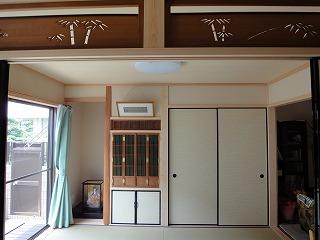 LDKと和室二間続きの家、撮影
