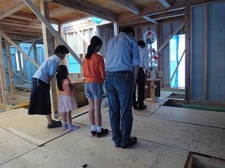 小倉台の家、立柱式