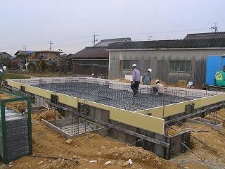 長期優良住宅「小野の家」基礎工事